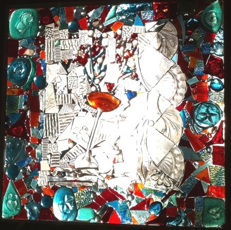 glass-on-glass mosaic