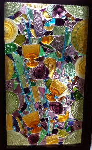 Autumn Sonata - glass on glass mosaic