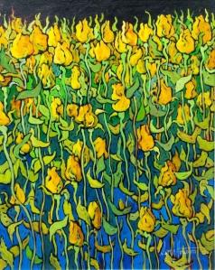 Beautiful Soft Folds - acrylic painting by Deryk Houston