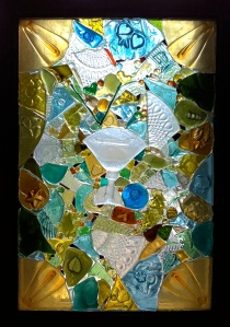 Thank Your Lucky Stars  (glass on glass mosaic)