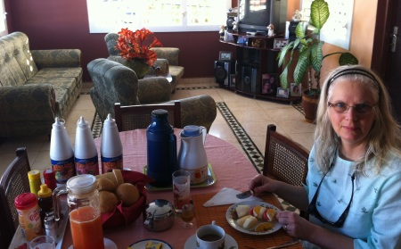 "Staying in ""casas"" meant breakfast prepared by a family and served in their living room!"
