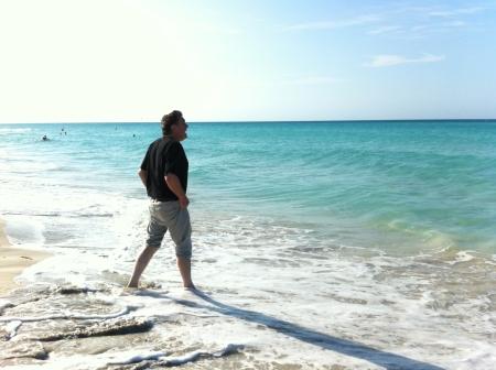 Deryk at the Beach in Varadero Cuba