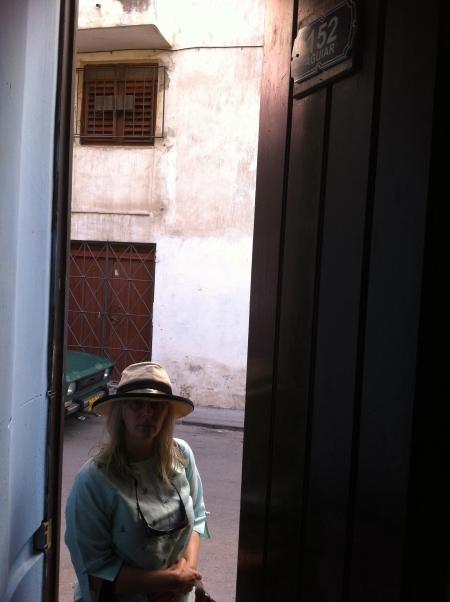 Looking out our door in the casa in Havana Vieja