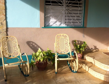 patio of our casa in Varadero (Betty and Jorge's)