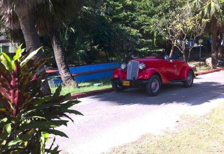 red car in Varadero Cuba