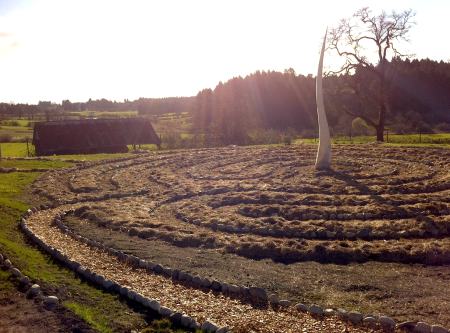 Woodwynn Peace Garden Labyrinth March 2015